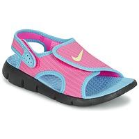 Schoenen Meisjes Sandalen / Open schoenen Nike SUNRAY ADJUST 4 Roze / Blauw