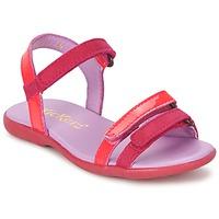 Schoenen Meisjes Sandalen / Open schoenen Kickers ARCENCIEL Fushia / Roze / Fluo