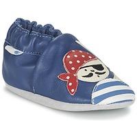 Schoenen Jongens Babyslofjes Robeez JOLLY PEG Blauw