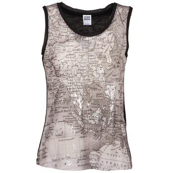 Textiel Dames Mouwloze tops Vero Moda MAP Zwart / Grijs