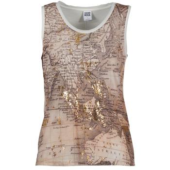 Textiel Dames Mouwloze tops Vero Moda MAP Beige / Wit