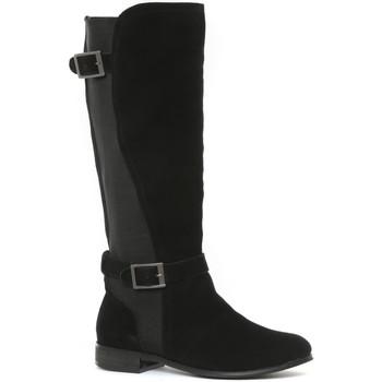 Schoenen Dames Hoge laarzen Ilario Ferucci Bottes en cuir Cissy noir Zwart