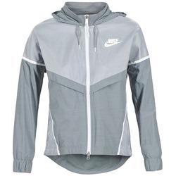Textiel Dames Windjack Nike TECH WINDRUNNER Grijs