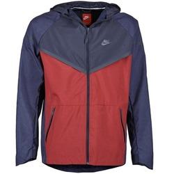 Textiel Heren Windjack Nike TECH WINDRUNNER Rood / Marine / Grijs
