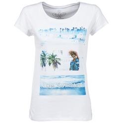 Textiel Dames T-shirts korte mouwen Deeluxe TRYP GIRL Wit