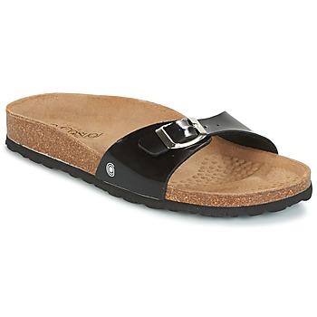 Schoenen Dames Leren slippers Casual Attitude TERTROBAL Zwart / Lak