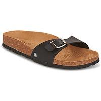 Schoenen Dames Leren slippers Casual Attitude TERTROBAL Zwart