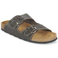 Schoenen Heren Leren slippers Casual Attitude TERTROBAL Bruin