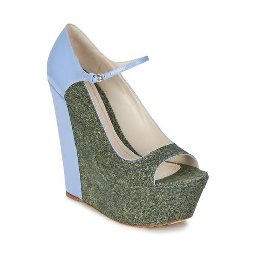 Schoenen Dames pumps John Galliano S54261 Blauw / Groen