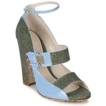 Schoenen Dames Sandalen / Open schoenen John Galliano A54250 Blauw / Groen