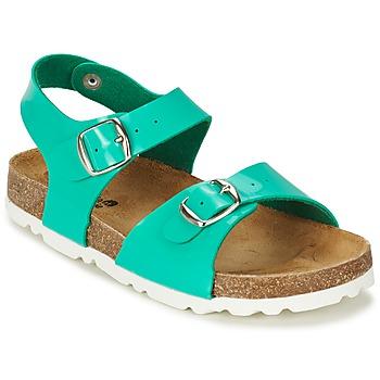 Schoenen Meisjes Sandalen / Open schoenen Citrouille et Compagnie RELUNE Turquoize / Lak