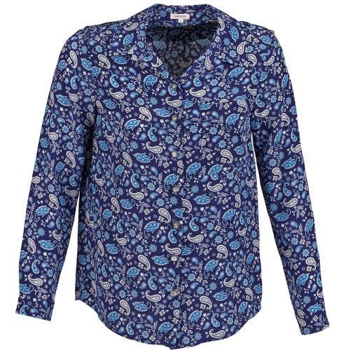 Textiel Dames Overhemden Manoush BANDANA SILK Blauw