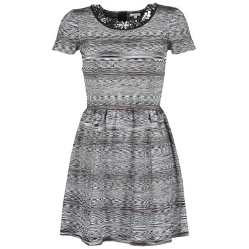 Textiel Dames Korte jurken Manoush BIJOU ROBE Zwart / Grijs