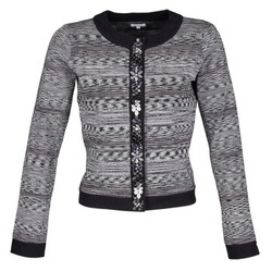 Textiel Dames Jasjes / Blazers Manoush BIJOU VESTE Zwart / Grijs
