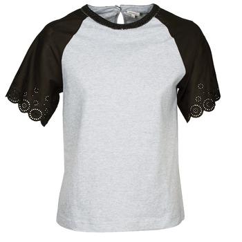 Textiel Dames T-shirts korte mouwen Manoush FANCY Grijs / Zwart