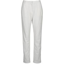 Textiel Dames 5 zakken broeken Manoush FLOWER BADGE Wit