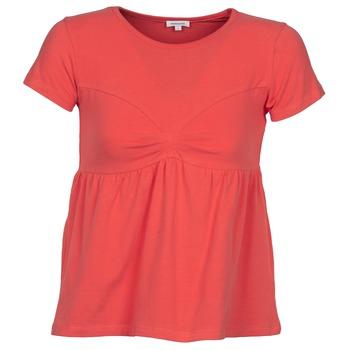 Textiel Dames T-shirts korte mouwen Manoush MOLLETON Koraal
