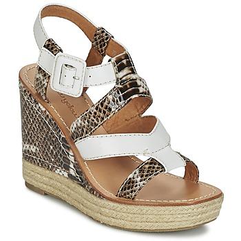 Schoenen Dames Sandalen / Open schoenen Mellow Yellow VANAIS Wit / Bruin