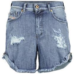 Textiel Dames Korte broeken / Bermuda's Diesel DE SCOTT Blauw