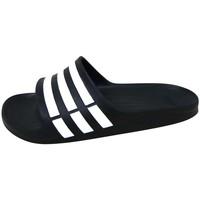 Schoenen Outdoorsandalen adidas Performance Duramo Slide Noir / Blanc / Noir