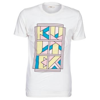 Textiel Heren T-shirts korte mouwen Kulte ANATOLE BLOCK Wit