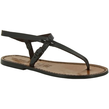 Schoenen Dames Sandalen / Open schoenen Gianluca - L'artigiano Del Cuoio 592 D MORO CUOIO Testa di Moro