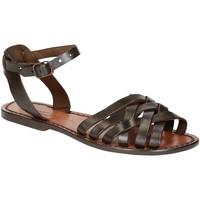 Schoenen Dames Sandalen / Open schoenen Gianluca - L'artigiano Del Cuoio 595 D MORO CUOIO Testa di Moro