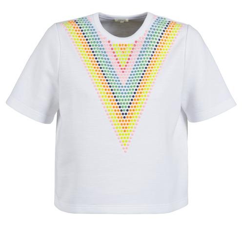 Textiel Dames Sweaters / Sweatshirts Manoush DOUDOU STAR Wit
