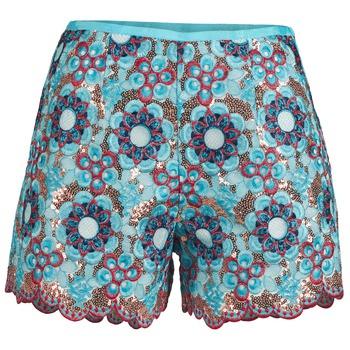 Textiel Dames Korte broeken / Bermuda's Manoush FRESQUE Blauw