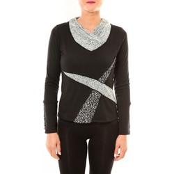 Textiel Dames T-shirts met lange mouwen Bamboo's Fashion Top BW632 noir Zwart