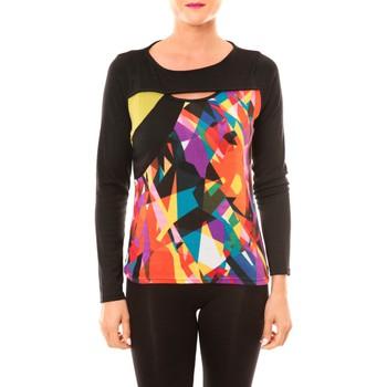Textiel Dames T-shirts met lange mouwen Bamboo's Fashion Top BW623 noir Zwart