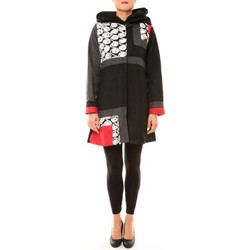 Textiel Dames Mantel jassen Bamboo's Fashion Manteau BW670 noir Zwart
