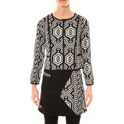 Textiel Dames Jasjes / Blazers Bamboo's Fashion Veste Chiner BW682 noir et blanc Zwart