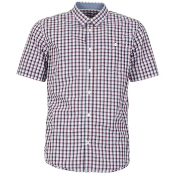 Textiel Heren Overhemden korte mouwen Tom Tailor CATHARINI Wit / Rood / Zwart