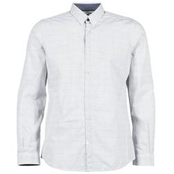 Textiel Heren Overhemden lange mouwen Tom Tailor MARCHALO Wit / Marine