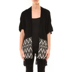 Textiel Dames Vesten / Cardigans De Fil En Aiguille Gilet Mélodie Noir Zwart