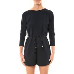 Textiel Dames Jumpsuites / Tuinbroeken Nina Rocca Combi-Short Léa marine Blauw