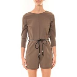 Textiel Dames Jumpsuites / Tuinbroeken Nina Rocca Combi-Short Léa taupe Bruin