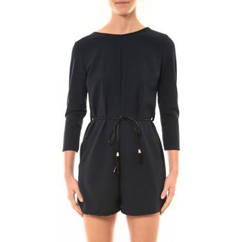 Textiel Dames Jumpsuites / Tuinbroeken Nina Rocca Combi-Short Léa noir Zwart