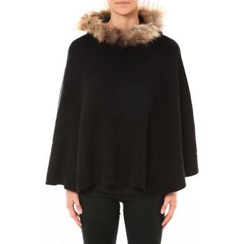 Textiel Dames Truien Nina Rocca Poncho MO-E2019 noir Zwart
