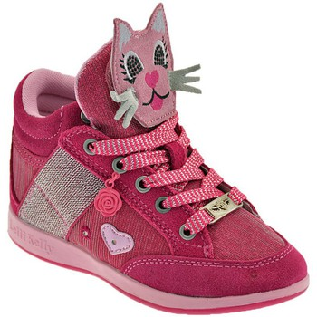 Schoenen Kinderen Hoge sneakers Lelli Kelly Gattino Rosa