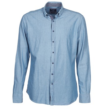 Textiel Heren Overhemden lange mouwen Hackett RILEY Blauw
