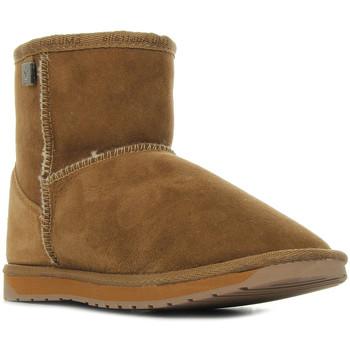 Schoenen Dames Laarzen EMU Platinum Stinger Mini Chestnut Bruin