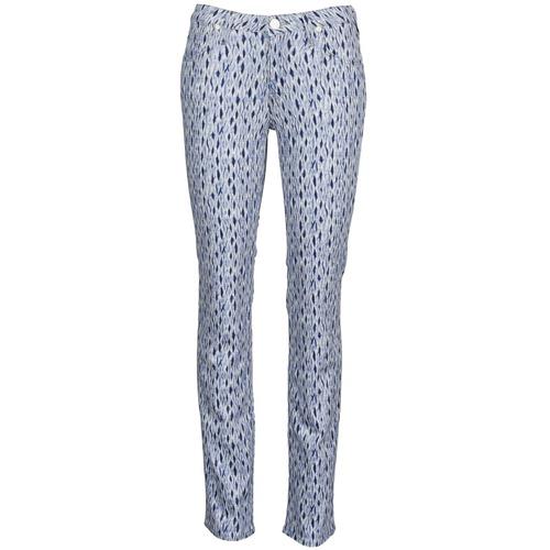 Textiel Dames Straight jeans Lee MARION STRAIGHT Print / Blauw