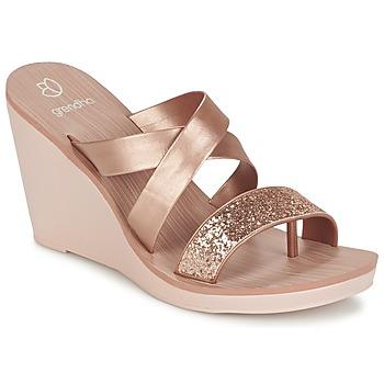 Schoenen Dames Sandalen / Open schoenen Grendha PARADISO II PLAT Roze / Metaal