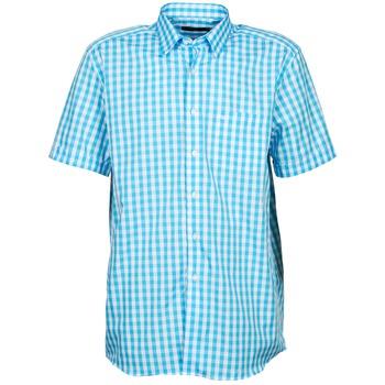 Textiel Heren Overhemden korte mouwen Pierre Cardin 539236202-140 Blauw