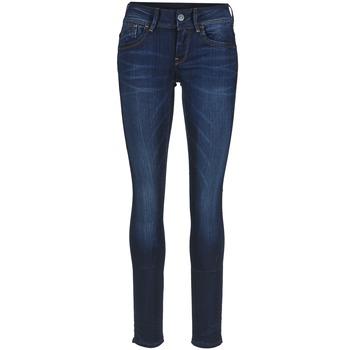 Textiel Dames Skinny Jeans G-Star Raw LYNN MID SKINNY Slander / Blauw / Medium / Vintage
