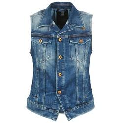 Textiel Dames Spijker jassen G-Star Raw 3302 JKT S/LESS WMN Blauw / Clair