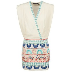 Textiel Dames Korte jurken Antik Batik POLIN Wit / Multicolour