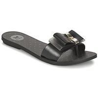 Schoenen Dames Leren slippers Zaxy LIFE SLIDE Zwart
